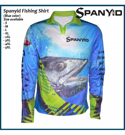 Spanyid Fishing Shirt, UPF 50+, Blue colour