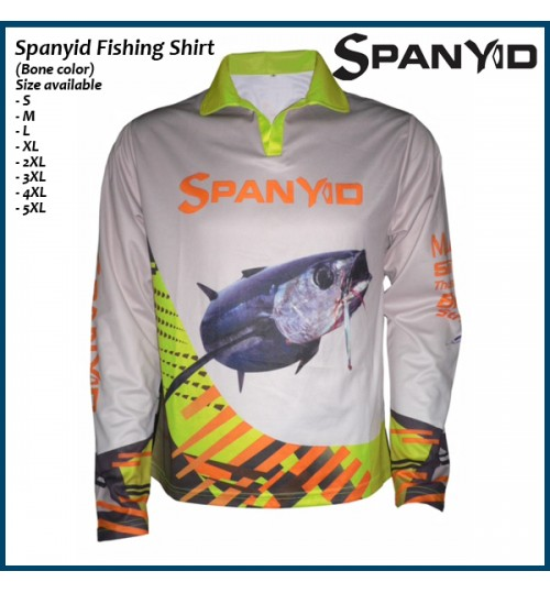 Spanyid Fishing Shirt, UPF 50+, Bone colour